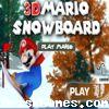 3D Mario Snowboard Icon