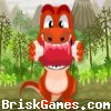 Dino Eat Meat Icon