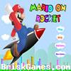 Mario On Rocket Icon